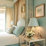 Billowing yards of fabric go along way to make a bedroom feel even more cozy...putting the sumptious yards behind the headboard keep if safe from messy hands!