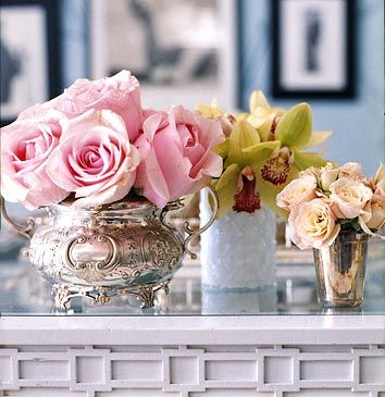 You could add this trim detail to a door molding or chair rail too! This pretty vignette is by Charlotte Moss
