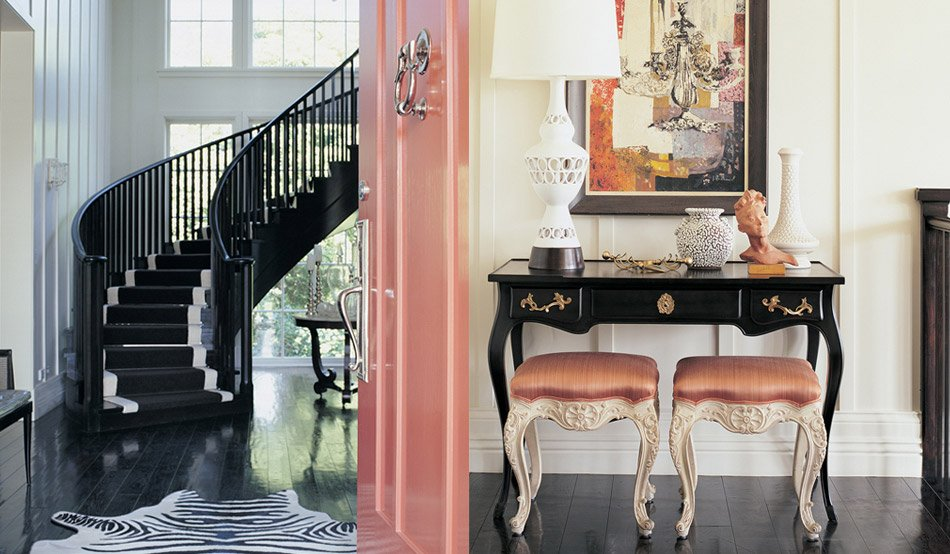 High gloss pink...that says a lot about this mistress of this mason! kelley wearstler