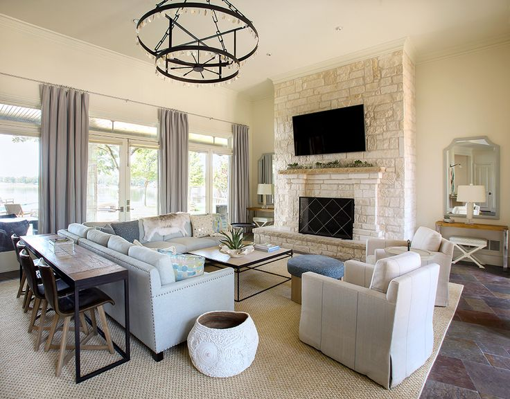 Ever think you could put a sectional in your living room, you can...and it will be SO cozy you will actually want to go in there! hardenburgesdesigns.com