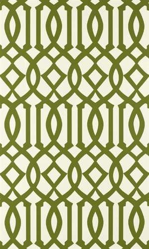 I love a trellis pattern on just about anything...but especially wallpaper. The pattern just envelopes the room. This kelley green dream is one of my absolute faves!!! f. shcumacher