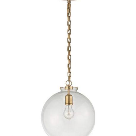 katie fitter pendant with glass globe – Circa Lighting